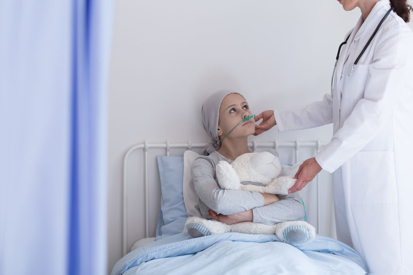 doctor with cancer patient